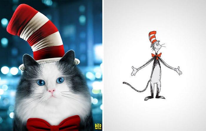 38 retratos de animais dos desenhos animado na vida real 24