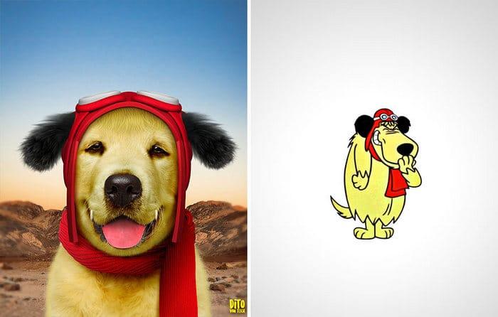 38 retratos de animais dos desenhos animado na vida real 25