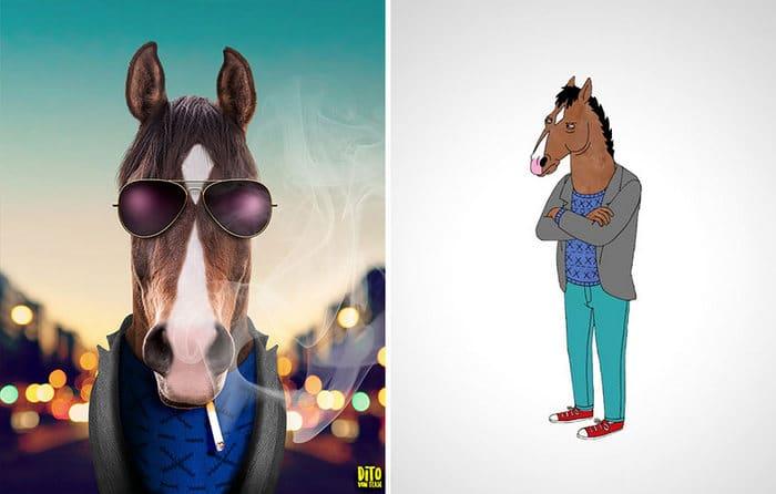 38 retratos de animais dos desenhos animado na vida real 27