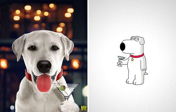 38 retratos de animais dos desenhos animado na vida real 32