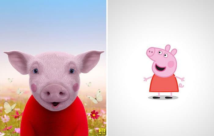 38 retratos de animais dos desenhos animado na vida real 34