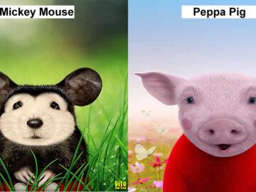 38 retratos de animais dos desenhos animado na vida real 31