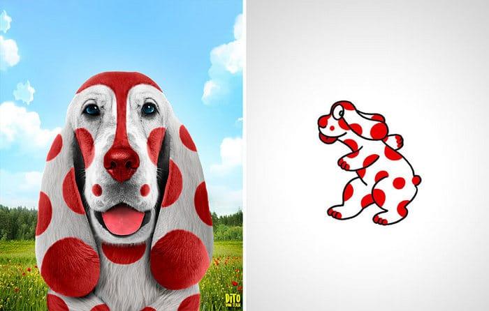 38 retratos de animais dos desenhos animado na vida real 39