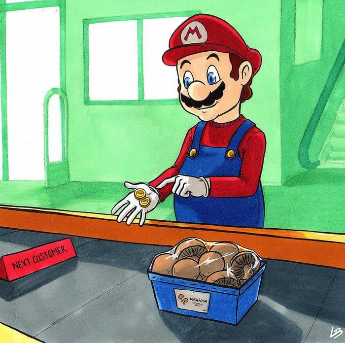 Aqui está o que personagens famosos comprariam no supermercado 11