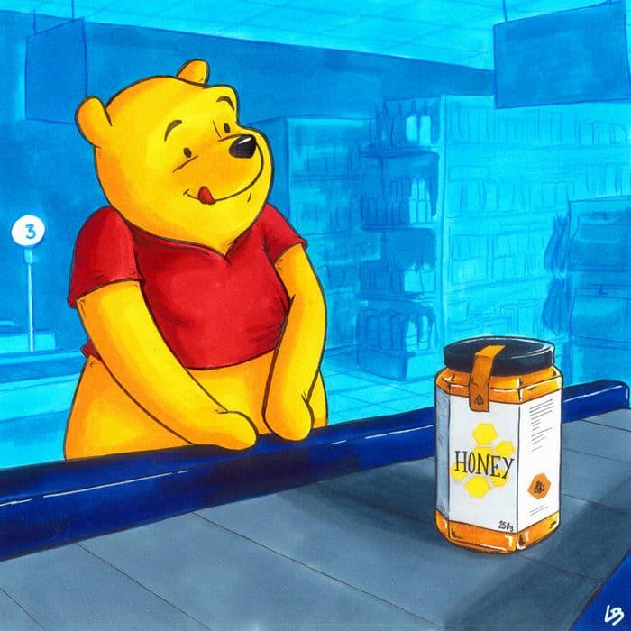Aqui está o que personagens famosos comprariam no supermercado 36
