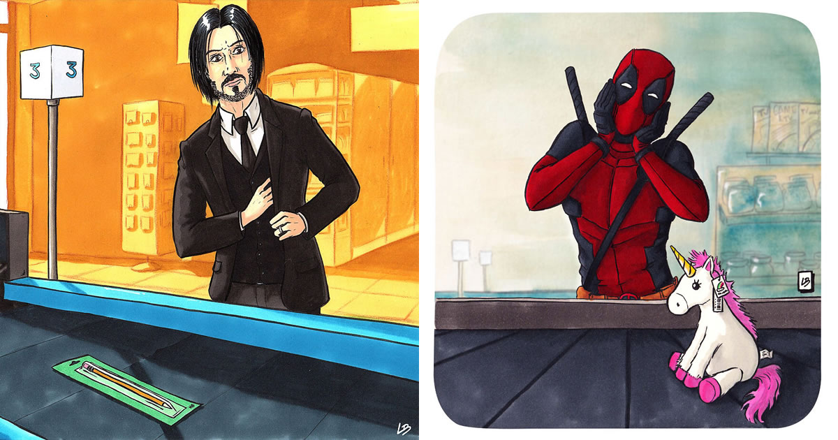 Aqui está o que personagens famosos comprariam no supermercado 37