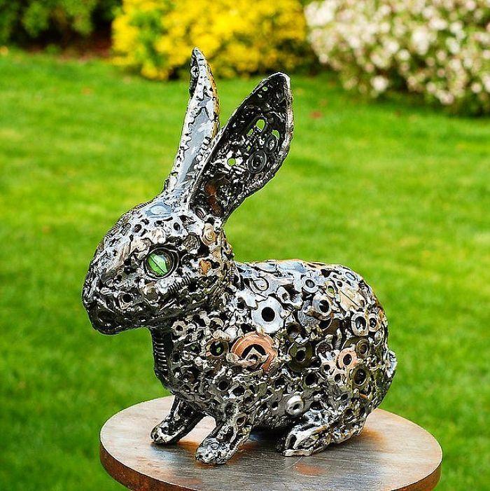 Artista americano traz materiais reciclados de volta à vida, aqui estão 42 de suas esculturas incríveis 3