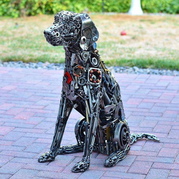 Artista americano traz materiais reciclados de volta à vida, aqui estão 42 de suas esculturas incríveis 14