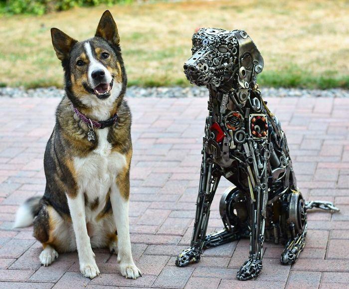 Artista americano traz materiais reciclados de volta à vida, aqui estão 42 de suas esculturas incríveis 17