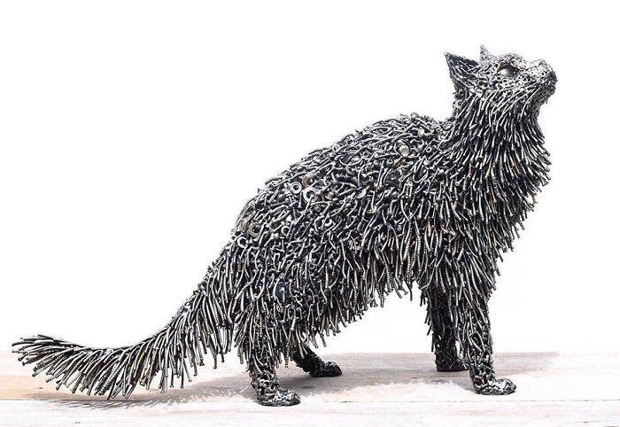 Artista americano traz materiais reciclados de volta à vida, aqui estão 42 de suas esculturas incríveis 19