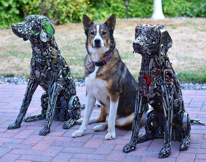 Artista americano traz materiais reciclados de volta à vida, aqui estão 42 de suas esculturas incríveis 23