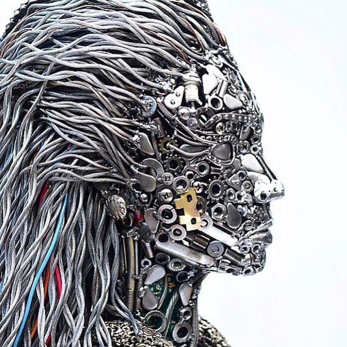 Artista americano traz materiais reciclados de volta à vida, aqui estão 42 de suas esculturas incríveis 24