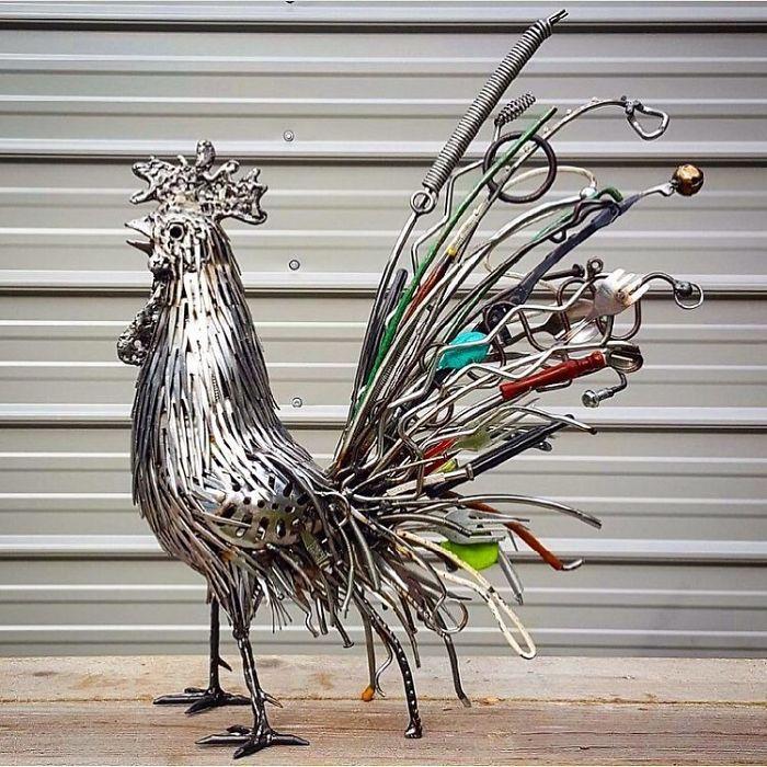 Artista americano traz materiais reciclados de volta à vida, aqui estão 42 de suas esculturas incríveis 25