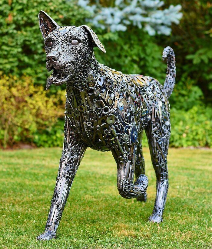 Artista americano traz materiais reciclados de volta à vida, aqui estão 42 de suas esculturas incríveis 34