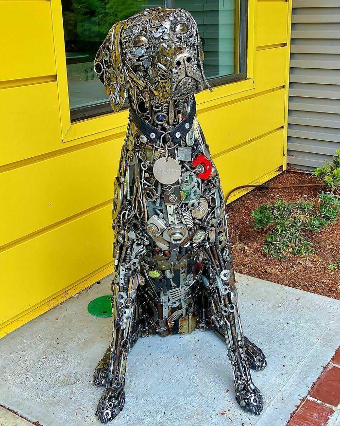 Artista americano traz materiais reciclados de volta à vida, aqui estão 42 de suas esculturas incríveis 35