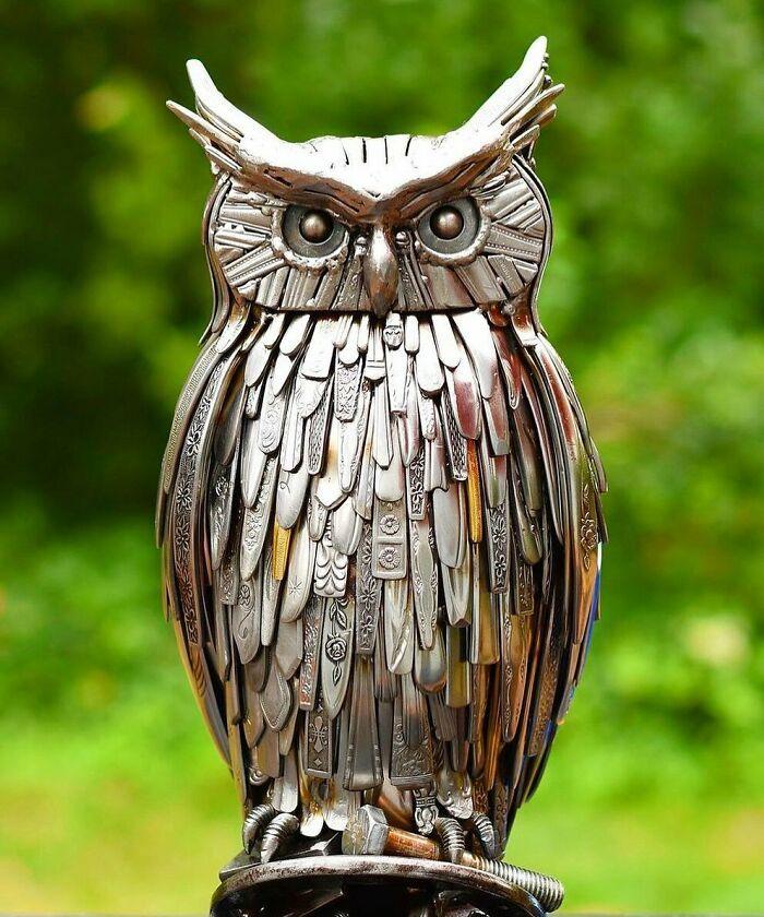 Artista americano traz materiais reciclados de volta à vida, aqui estão 42 de suas esculturas incríveis 37