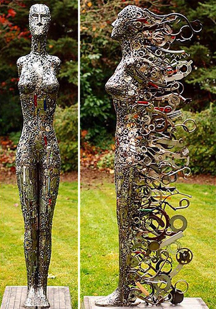Artista americano traz materiais reciclados de volta à vida, aqui estão 42 de suas esculturas incríveis 41