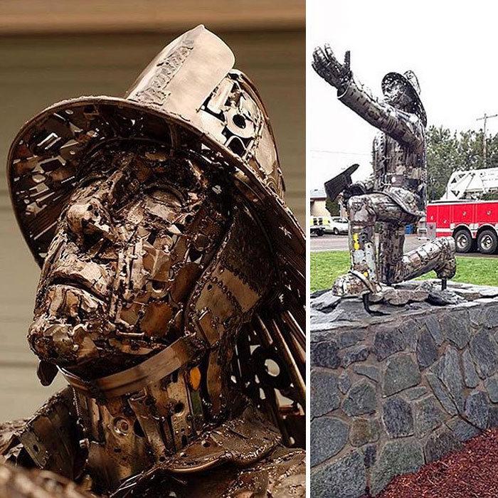 Artista americano traz materiais reciclados de volta à vida, aqui estão 42 de suas esculturas incríveis 42