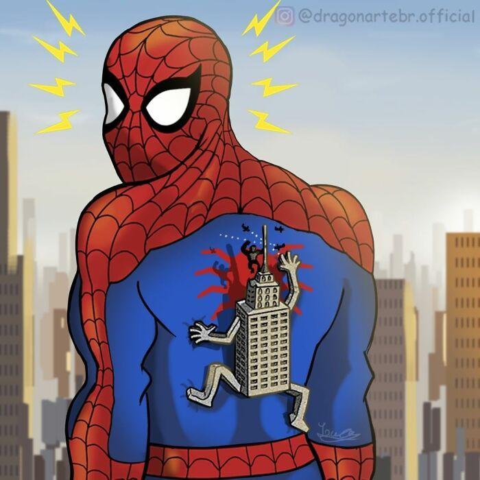 Artista mostra o que os super-heróis e outros personagens famosos fazem quando não estão salvando o mundo 2