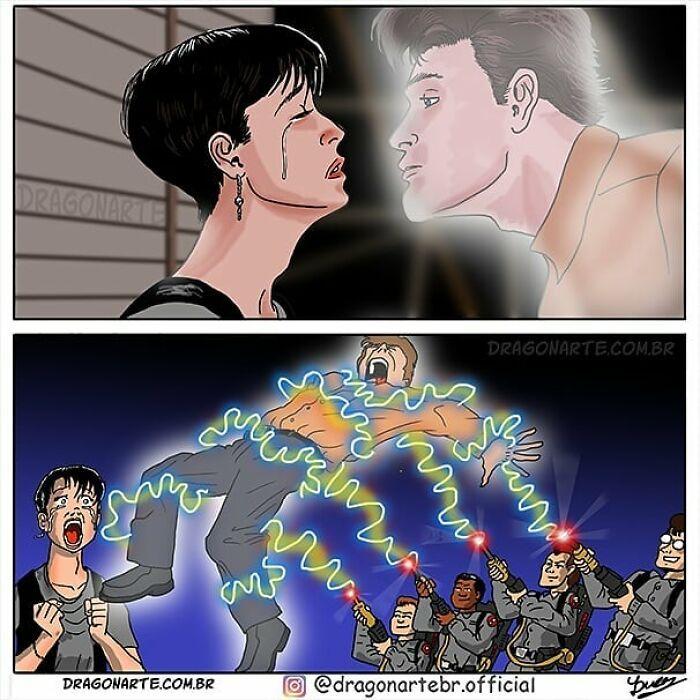 Artista mostra o que os super-heróis e outros personagens famosos fazem quando não estão salvando o mundo 3