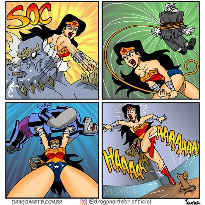 Artista mostra o que os super-heróis e outros personagens famosos fazem quando não estão salvando o mundo 5
