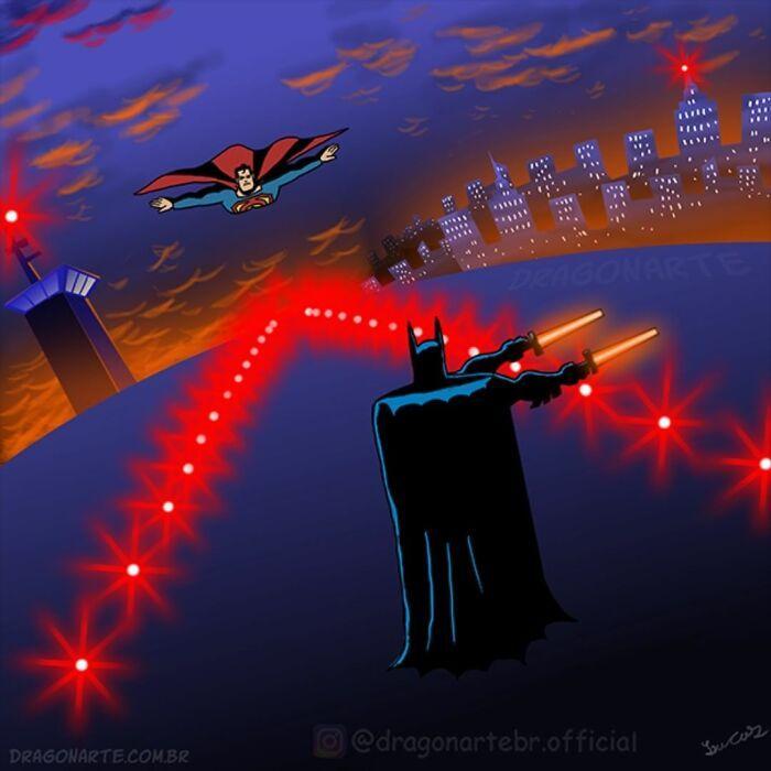 Artista mostra o que os super-heróis e outros personagens famosos fazem quando não estão salvando o mundo 7