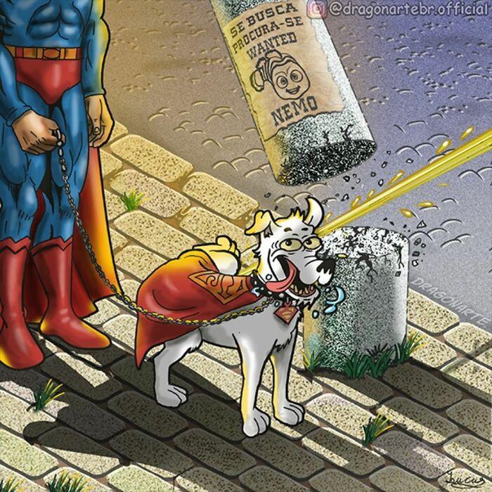 Artista mostra o que os super-heróis e outros personagens famosos fazem quando não estão salvando o mundo 9