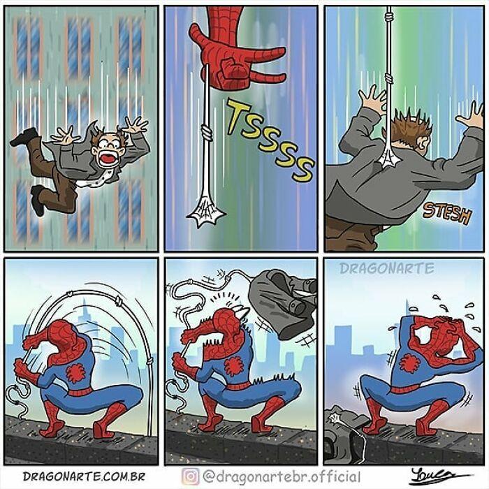 Artista mostra o que os super-heróis e outros personagens famosos fazem quando não estão salvando o mundo 14