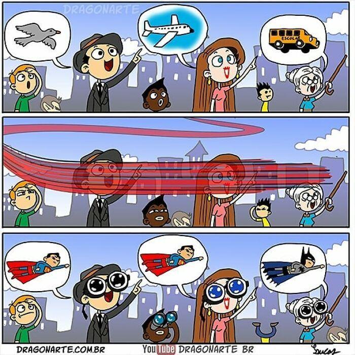 Artista mostra o que os super-heróis e outros personagens famosos fazem quando não estão salvando o mundo 18