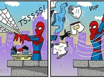 Artista mostra o que os super-heróis e outros personagens famosos fazem quando não estão salvando o mundo 25