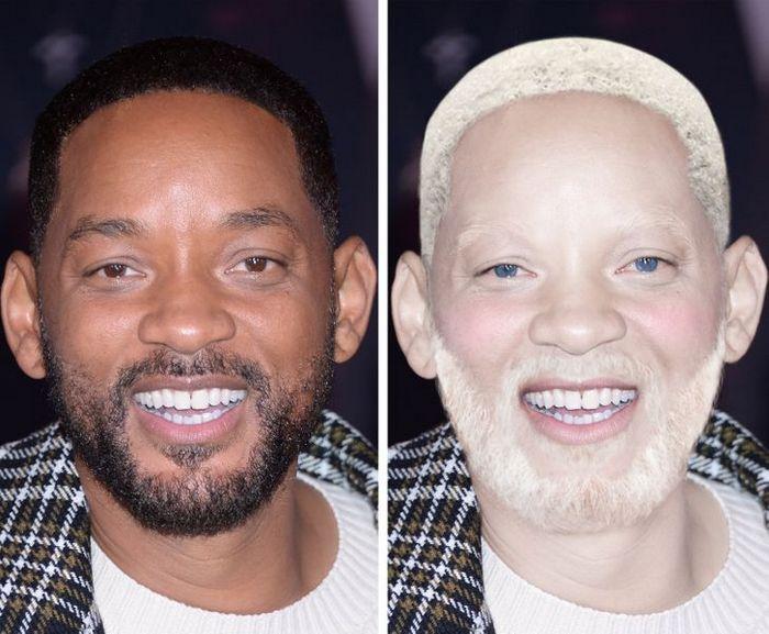 Como seriam 15 celebridades se fossem albinos 5