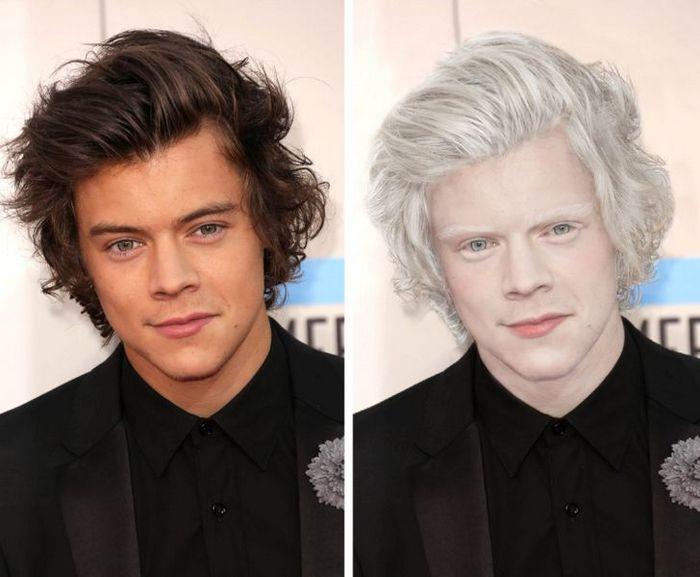 Como seriam 15 celebridades se fossem albinos 7