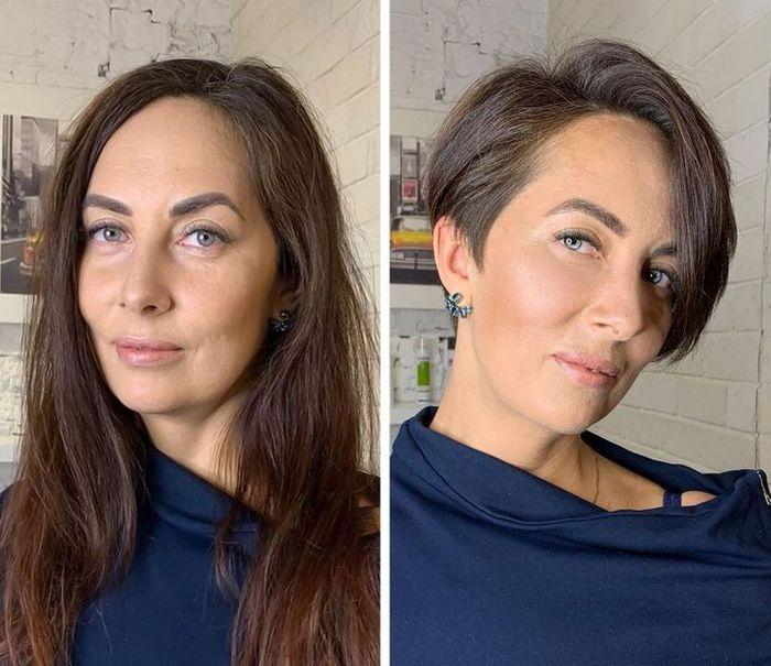 16 garotas que se despediram de seus cabelos compridos 17