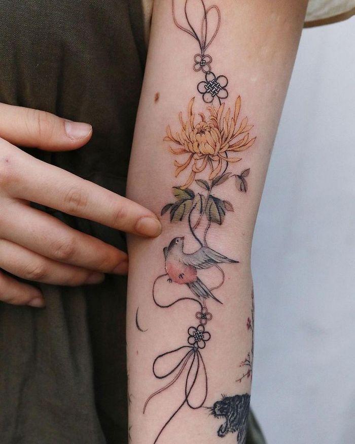 Uma artista coreano cria tatuagens delicadas e elas são a personificação da ternura 11