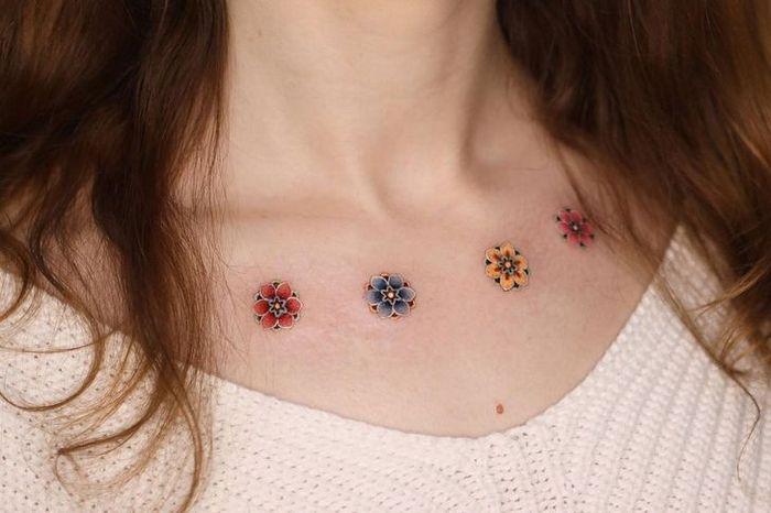 Uma artista coreano cria tatuagens delicadas e elas são a personificação da ternura 21