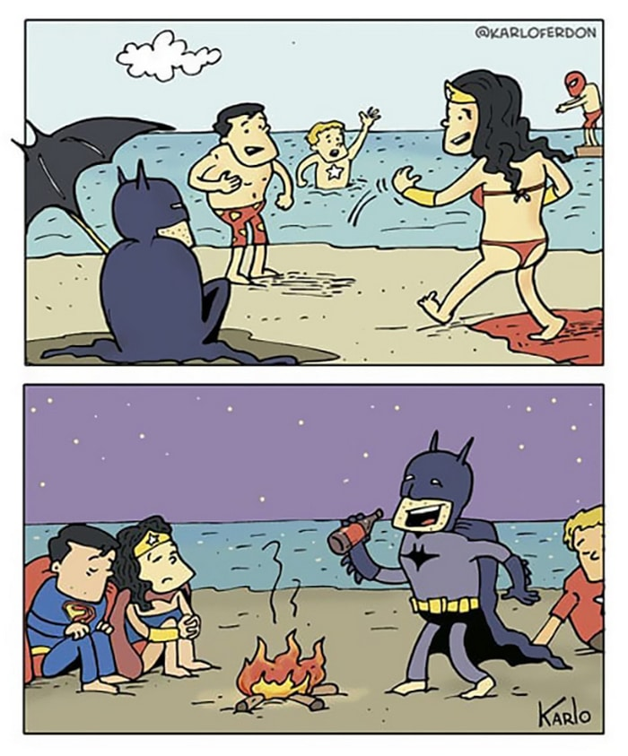 Artista mostra o dia a dia não tão glamoroso dos super-heróis 33