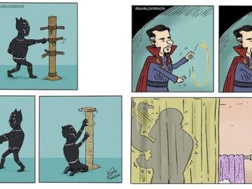 Artista mostra o dia a dia não tão glamoroso dos super-heróis 42