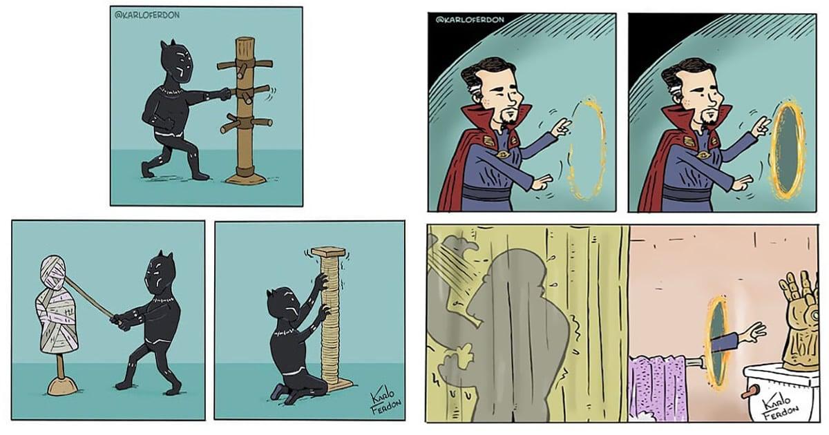 Artista mostra o dia a dia não tão glamoroso dos super-heróis 3