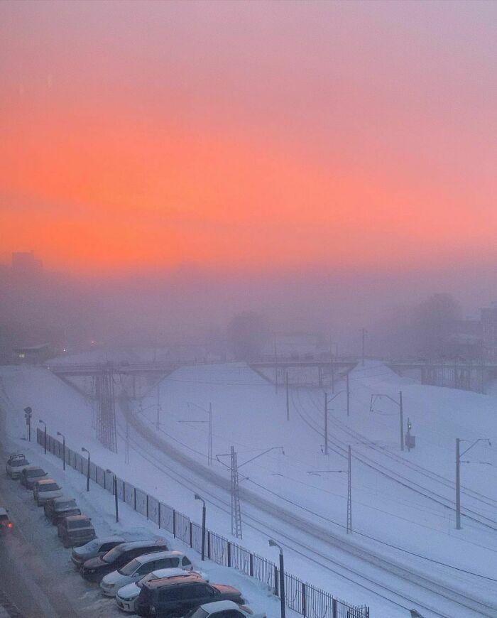 30 fotos que mostram o quão insuportável está o frio na Rússia agora 15