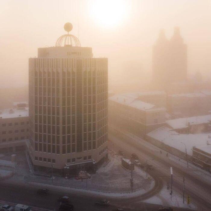30 fotos que mostram o quão insuportável está o frio na Rússia agora 23