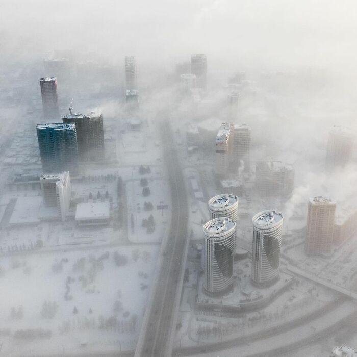 30 fotos que mostram o quão insuportável está o frio na Rússia agora 30