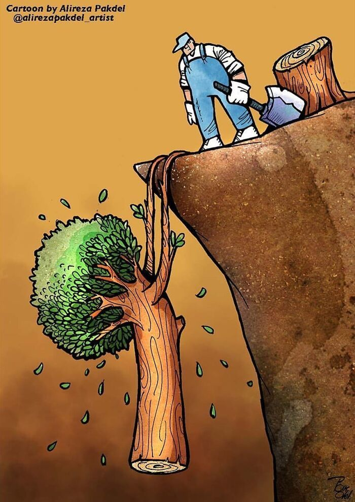 60 Ilustrações digitais que expõem as falhas da sociedade atual por Alireza Pakdel 62