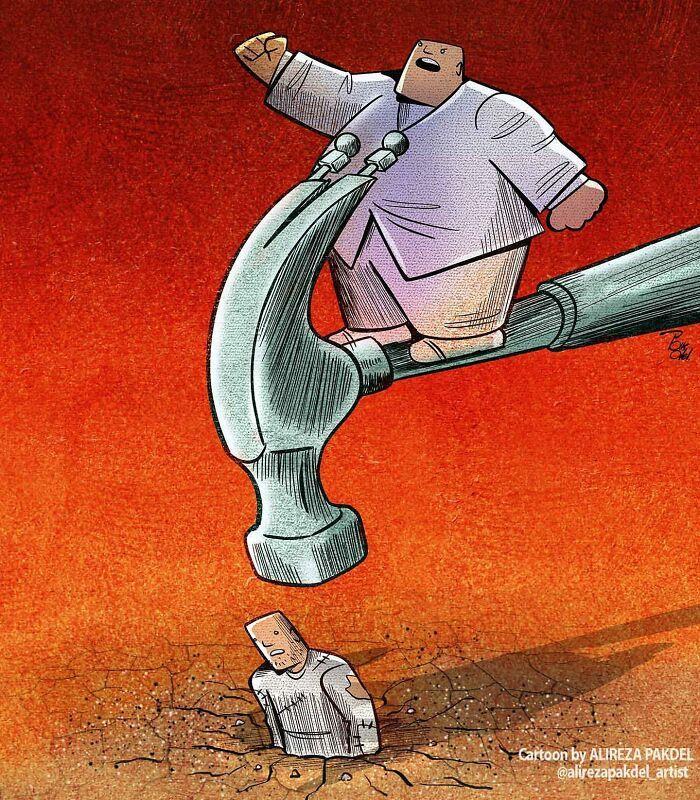60 Ilustrações digitais que expõem as falhas da sociedade atual por Alireza Pakdel 59