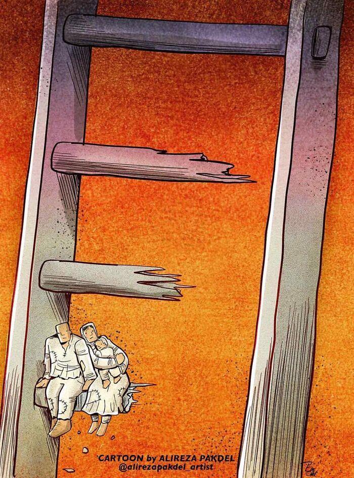 60 Ilustrações digitais que expõem as falhas da sociedade atual por Alireza Pakdel 58