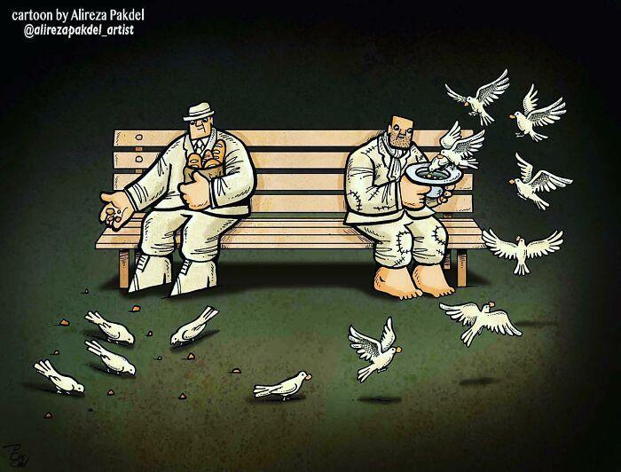 60 Ilustrações digitais que expõem as falhas da sociedade atual por Alireza Pakdel 57