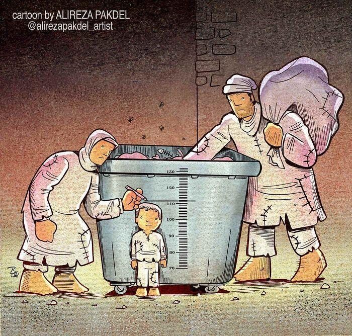 60 Ilustrações digitais que expõem as falhas da sociedade atual por Alireza Pakdel 56