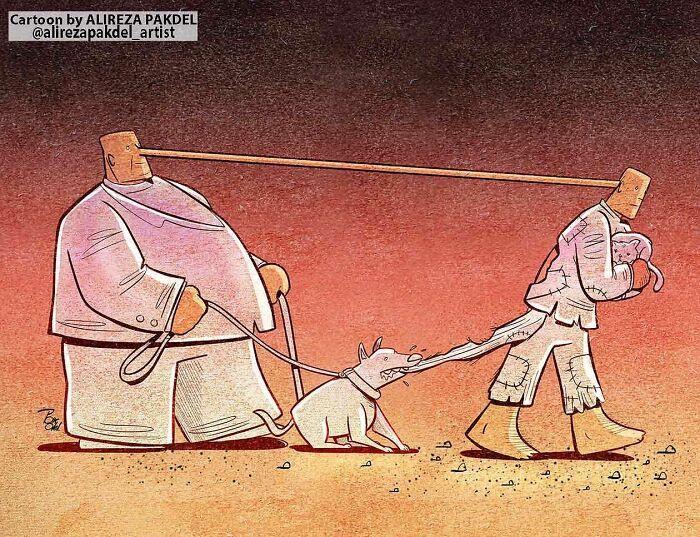 60 Ilustrações digitais que expõem as falhas da sociedade atual por Alireza Pakdel 51