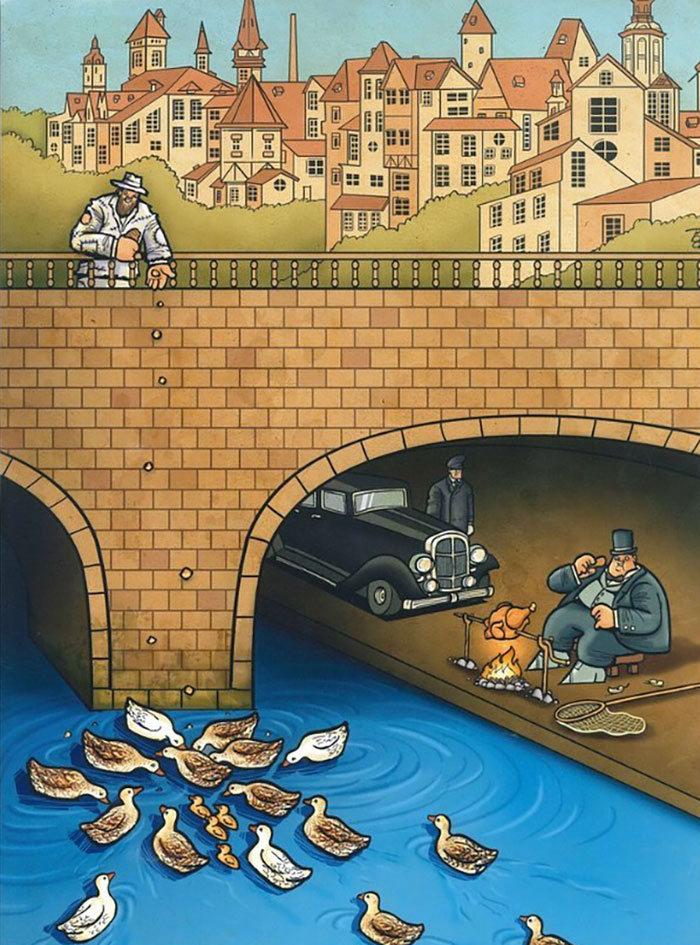 60 Ilustrações digitais que expõem as falhas da sociedade atual por Alireza Pakdel 50