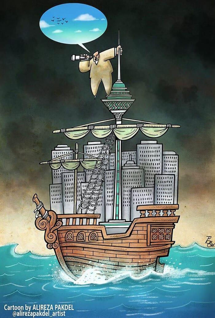 60 Ilustrações digitais que expõem as falhas da sociedade atual por Alireza Pakdel 47