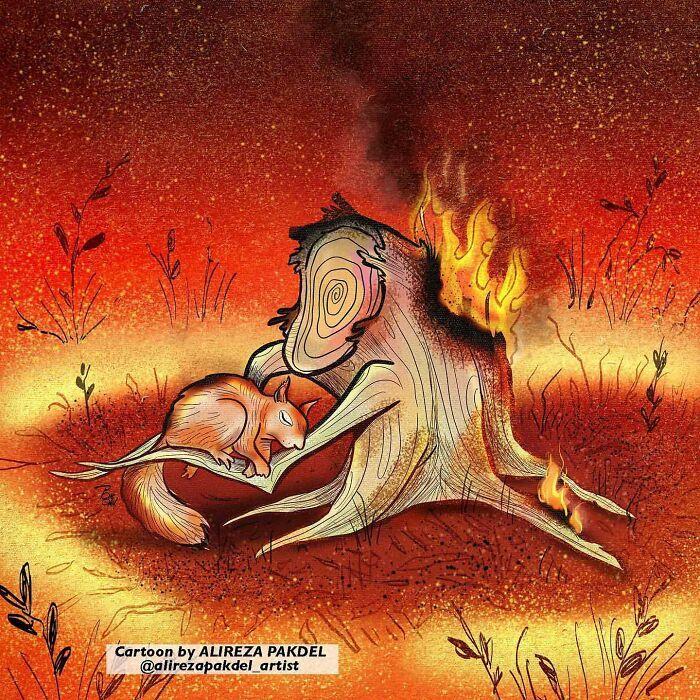 60 Ilustrações digitais que expõem as falhas da sociedade atual por Alireza Pakdel 46